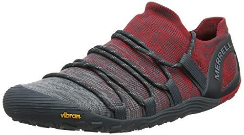 Merrell Vapor Glove 4 3D, Zapatillas Deportivas para Interior para Hombre, Gris (Turbulence/Cherry), 42 EU