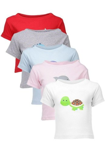 Goodway Infants Sea Theme Combo Pack of 5 T-Shirts - 12-18 Months