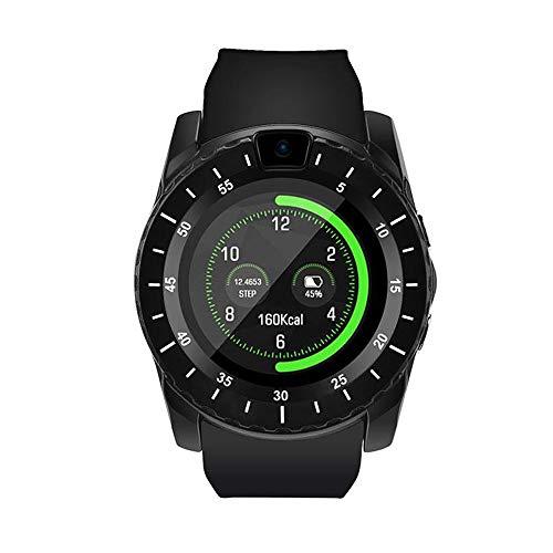 Herren Bluetooth Smartwatch Sportuhr Fitnessuhr Intelligente Armbanduhr mit Schrittzähler Pulsmesser Schlafmonitor Kompatibel Android (Schwarz) 850 Bluetooth