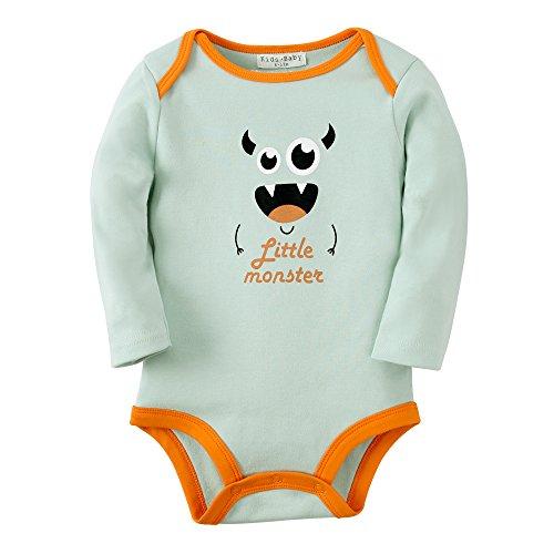 Sanlutoz Baby Jungen Kleidung Baumwoll Neugeborene Säugling Kleider Langen Ärmeln Bodys (0-6 Monate, R03 (Tank Halloween Kostüme Kleid)