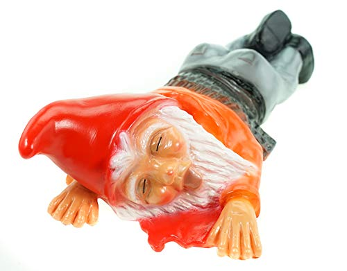 Gartenzwerg überfahren aus bruchfestem PVC Zwerg Made in Germany Figur - 4