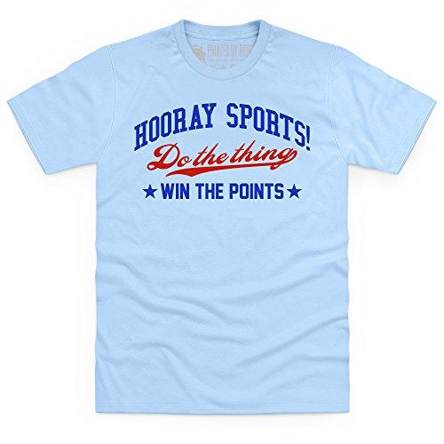 Hooray Sports T-shirt, Uomo Celeste