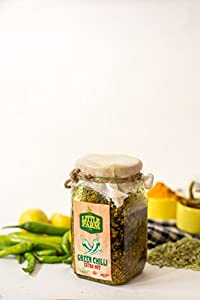 Green Chilli Extra Hot Pickle/Thiki Hari Mirch Achar 400 gm - Homemade, Farm fresh, Preservative Free, Gourmet Foods & Traditional Taste - By The Little Farm Co