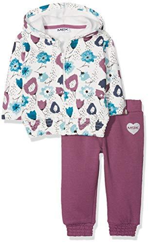 Mek MEK Baby-Mädchen Jogginganzug 183MEEP002-094, Violett (Lavanda 05 094), 74 cm