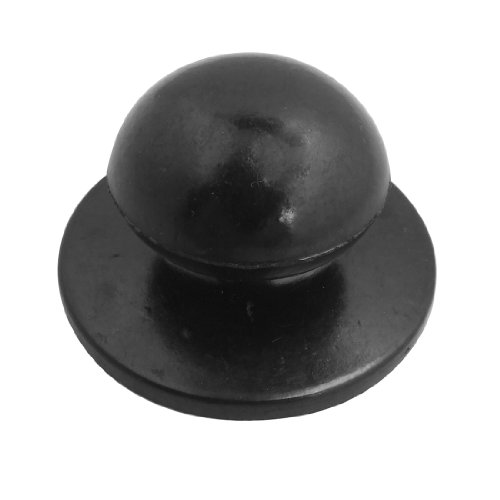 4.71mm Screw Black Plastic Cookware Pot Pan Lid Round Knob Replacement