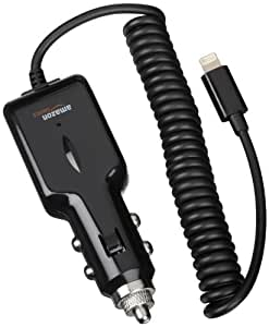 AmazonBasics 2.1 Amp Output Lightning Car Charger for iPhone, iPad and iPod, Apple-certified