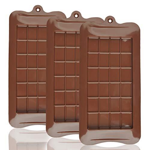 OFNMY 3 piezas Molde Chocolate Aprobado FDA 100% silicona