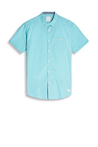 edc by Esprit 057cc2f016, Chemise Casual Homme Bleu (Turquoise 470)