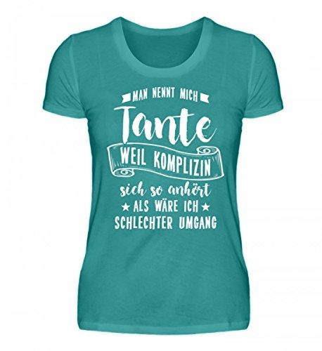 Hochwertiges Damen Organic Shirt - Mann nennt mich Tante Geschenk Tante Frau Atollblau
