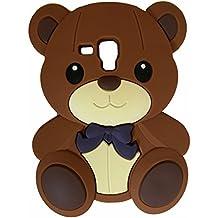 SKS Distribution® marrón silicona corbata de lazo oso BOW BEAR FUNDA / CARCASA / COVER para Samsung Galaxy S3 SIII Mini i8190