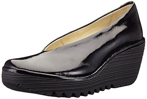 Fly London P500025203, Chaussures Compensées Pour Femmes Noir (black 207)