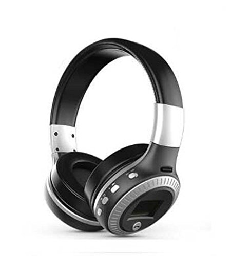 Yjrong Drahtlos Faltbares Über-Ohr-Hi-Fi-Stereo-Headset mit CVC 6.0 Geräusch-Abbruch Mikrofon, Kabelgebundene und Drahtlose Kopfhörer, Zum Training, Laufen, Joggen, Fitness,Blacksilver