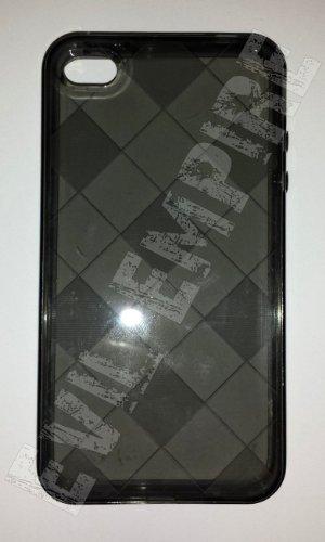 EE Zubehör Diamant Checkers CLEAR CRYSTAL TPU Case für iPhone 44S (schwarz) Checker Crystal