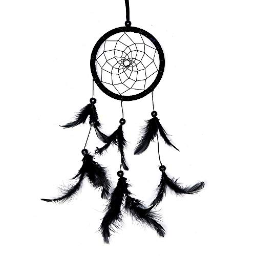 DASEXY Indian Style Dream Catcher Wandbehang Einzelring Serie Dreamcatcher Black Feather Home Wandbehang Deko Wohnzimmer Feather Serie