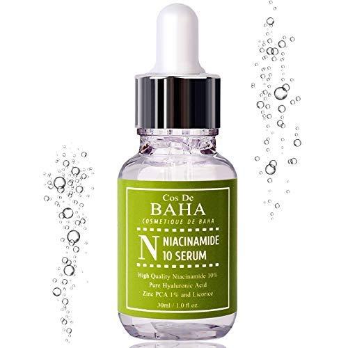 Cos De BAHA 10% Niacinamid-Serum, um Poren zu härten und Falten zu reduzieren - 1Fl-Unzen -
