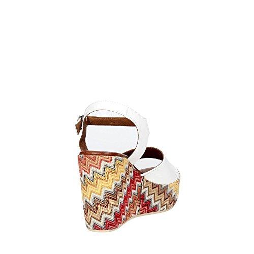 Pregunta PZ579 002 Sandalo Donna Bianco