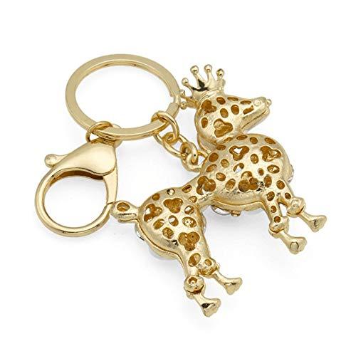 Gold-ton, Valet (Liuzecai Schlüsselring Keychain Taschenzubehör Anhänger Strass Crown VIP Puppy Year Keychain)