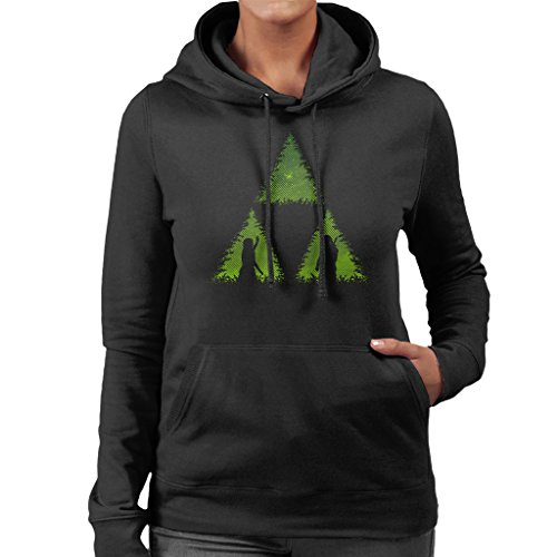 Let The Forces Glow Legend Of Zelda Women's Hooded Sweatshirt Black