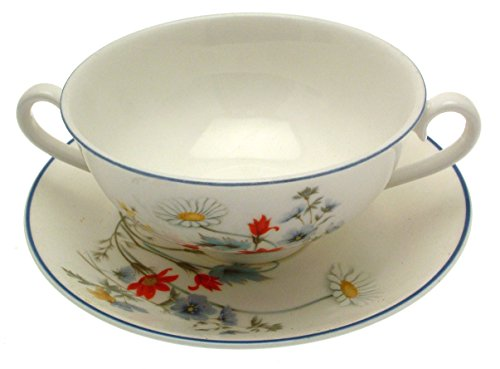 Royal Albert Teller Summer Breeze Coupe und Untersetzer Breeze Coupe