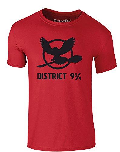 Brand88 - The District, Erwachsene Gedrucktes T-Shirt Rote/Schwarz