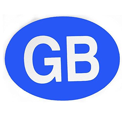 Preisvergleich Produktbild GB Magnetschild Teller 2Stück blau Hintergrund Travel requirment für Ausland