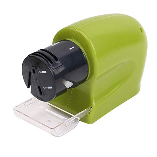 CloverGorge Professional Electric Knife Sharpener Motorized Knife Sharpener Rotating Sharpening Stone Sharpening Tool Ceramic Electric Knife Sharpener