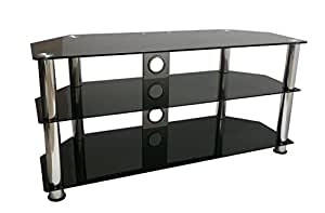 Mountright UMS4 Glass TV Stand For 32 Up To 60 Inch 105 Centimeter Wide LED LCD Plasma