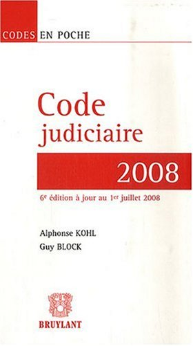 Code judiciaire 2008