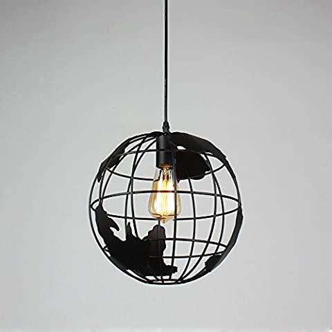 Pumpink Nordic post-modern Globe Ball Round Iron Chandelier Bar Restaurant Creative Pendant Lights Cafe Shaped Hall Clothing Store Ceiling Light ( Color : White )
