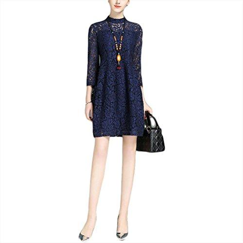 Robe en dentelle robe de soirée - rouge dark blue (a little larger than a yard)