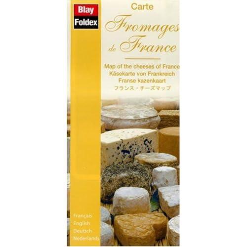 Carte routière : Fromages de France