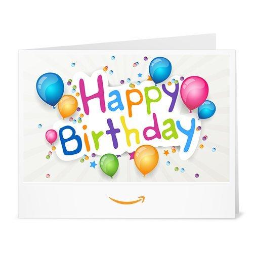 Happy Birthday (Coloured Balloons) - Printable Amazon.co.uk Gift Voucher Test