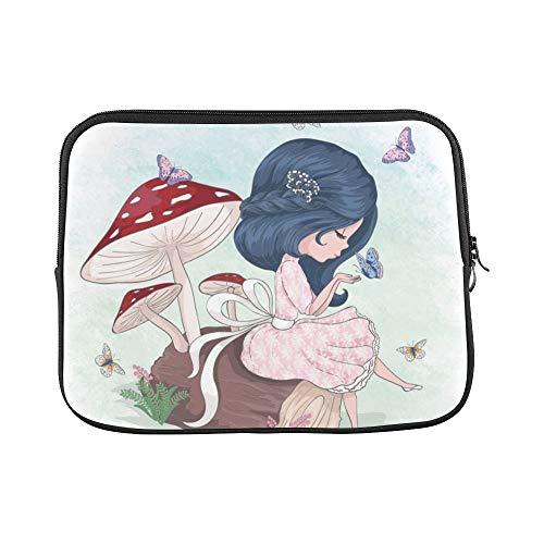 JOCHUAN Design Benutzerdefinierte Nettes Mädchen Schmetterling T-Shirt Graphiccartoon Charakter Vorlage Hülse Weiche Laptop Tasche Tasche Haut Für MacBook Air 11