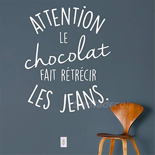 Wandtattoo Schlafzimmer Aufkleber-Spaß, der Schokolade geschrumpfte Jeans-Wohngestaltung für Wohnzimmer sagt (Jeans Lee Mädchen)