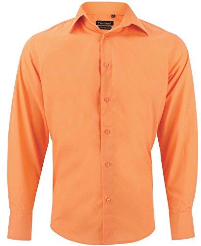 Camicia uomo classica arancione regular fit confortevole e elegante con maniche lunghe taglia xl