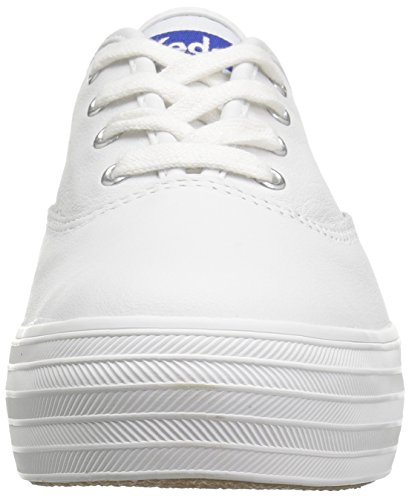Keds Triple Leather, Scarpe Running Donna Bianco