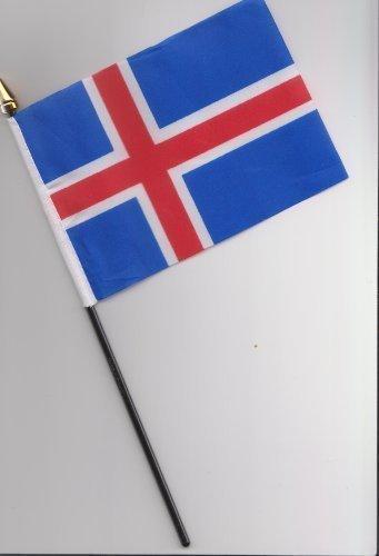 Drapeau de l'Islande main 25 cm
