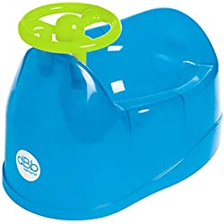 Baby Potty with Steering Wheel, Translucent Blue