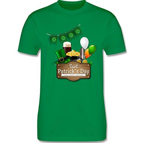 Festival - Saint Patrick's Day Happy music festival - Herren Premium T-Shirt Grün