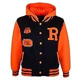 Enfants Fille Garçon R Fashion NYC Fox Baseball Veste avec capuche Uni à capuche Age 2–13ans -  Orange - 5 ans