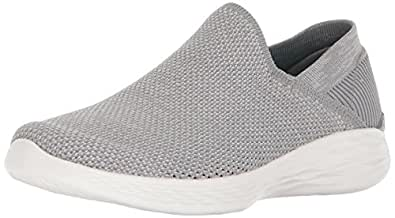 Skechers Damen You-Rise Slip on Sneaker, Blau (Navy/White), 37.5 EU