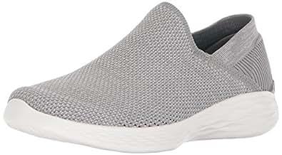 Skechers Damen You-Rise Slip on Sneaker, Grau (Grey), 36 EU
