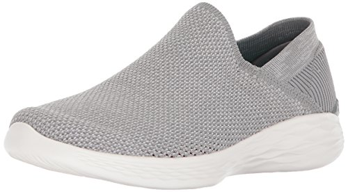 c9e6f23b57b2d3 Skechers Damen You - Rise Slip On Sneaker Grau (Grey) 38 EU