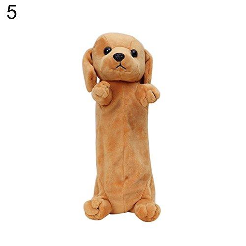 AchidistviQ Aufbewahrungstasche Cartoon 3D Puppy Bleistift Fall Plüsch Spielzeug Kosmetik Stationery Tasche Geldbörse 5# (Clearance Designer-handtaschen)