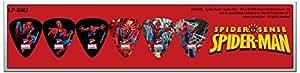 Perri's LP-SM2 Lot de 6 Médiators Taille M Spider Man