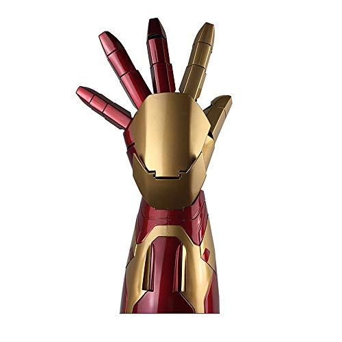 BJL Marvel Hero Iron Man Modell Avengers 4 Iron Man 1: 1 Rüstung Wearable Arm Modell Spielzeug Live Size Wird leuchten (Linke Hand) Skulptur Spielzeug (Iron Man Leuchten Die Handschuhe)