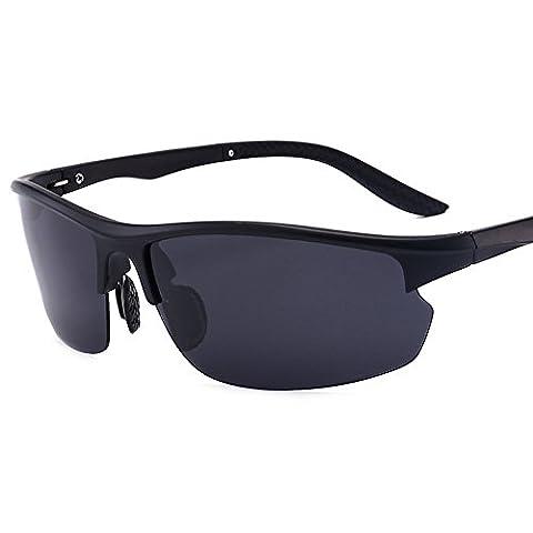 Kennifer Mode Hommes Lunettes de soleil polarisées Conduite Sports Pêche Cyclisme Beach Golf Lunettes légères Lunettes moulantes moulantes, UV400 (C2)