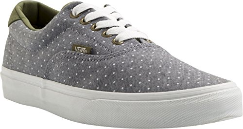 Vans U ERA 59 (CANVAS  CHAMB, Sneaker unisex adulto (Chambray Dots)GRN/INSGNB