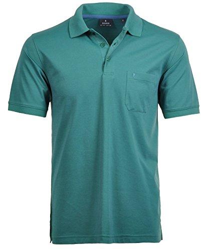 Ragman Herren Kurzarm Softknit Poloshirt Grün
