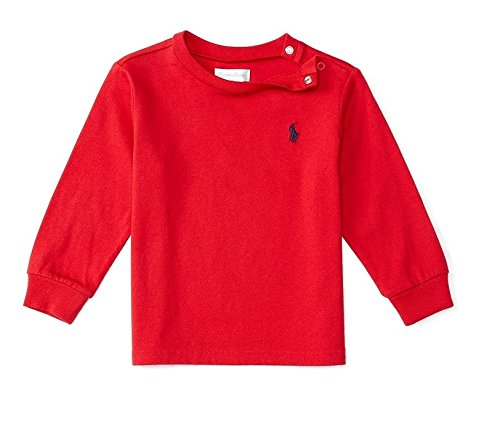 Ralph Lauren Baby Boy Girl Unisex maglietta a manica lunga Top rosso blu navy 36M